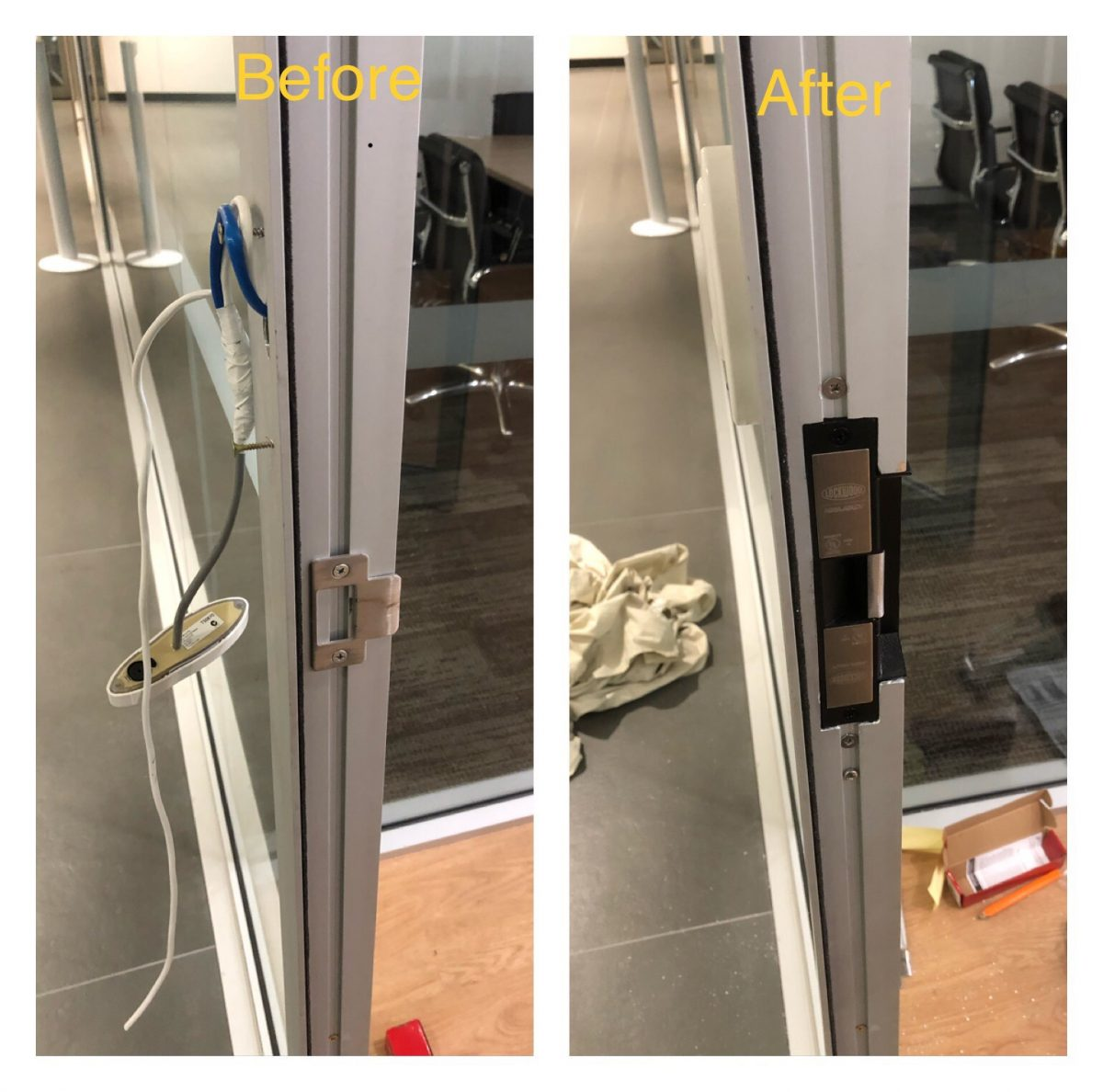 Electric strike installation for a office in Perth