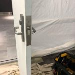 New mortice lock installation.