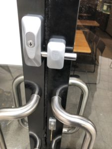 Installation of a new ADI Bloklok to a shopfront in Rockingham to add good security