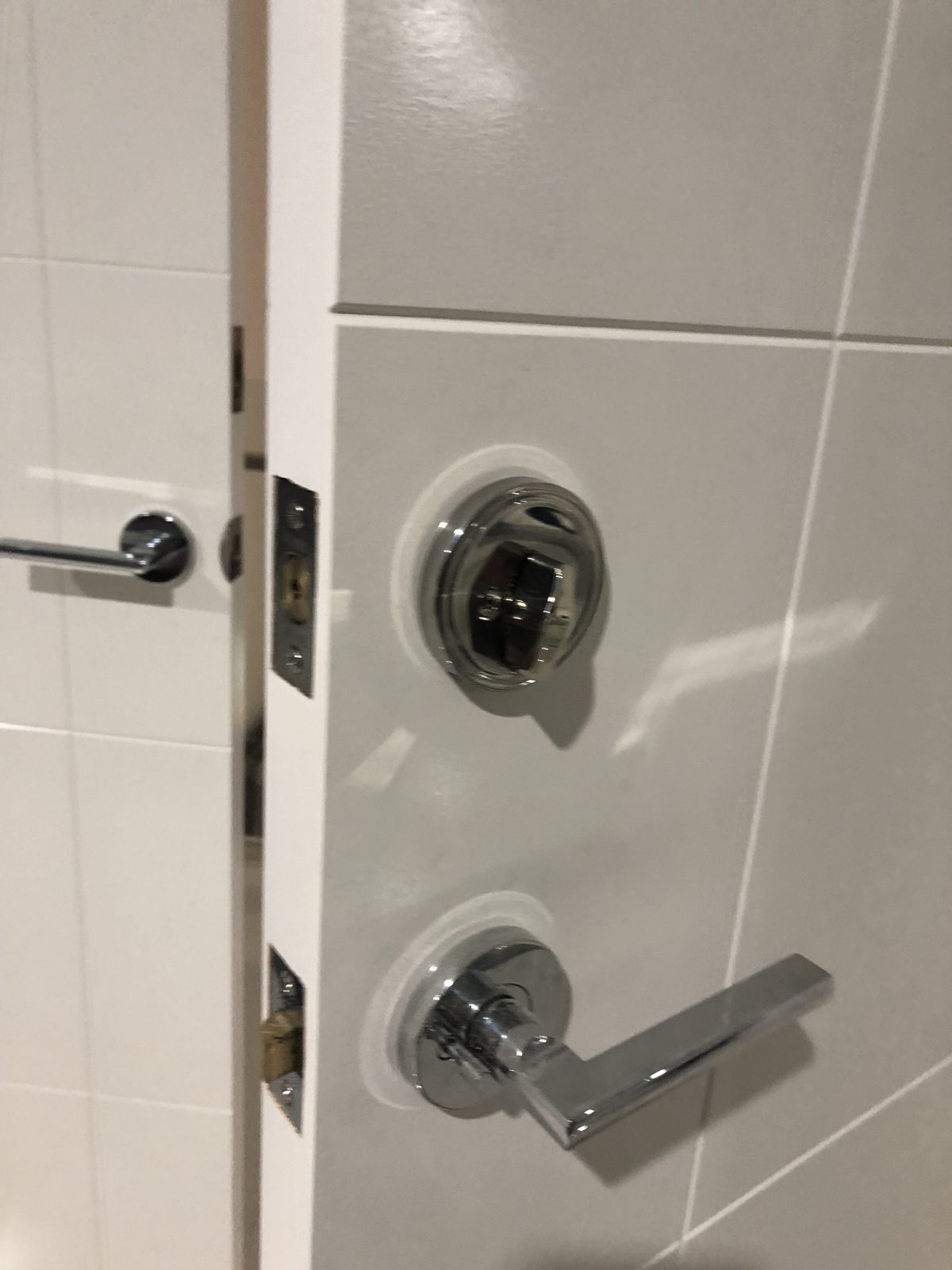 Installation of a deadbolt for a bedroom in Piara Waters